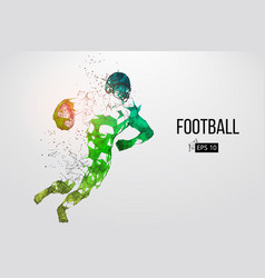 silhouette of a football player vector image