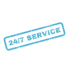 24 Slash 7 Service Text Rubber Stamp vector
