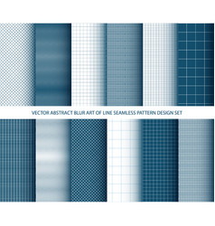 abstract blue art of lines seamless pattern vector image