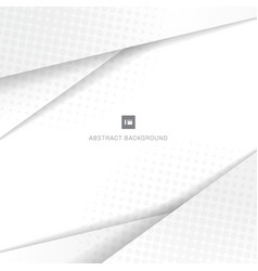 abstract geometric white and gray background vector image