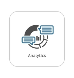 Analytics Icon Flat Design vector image