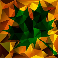 Autumn Abstract Triangle Background vector image