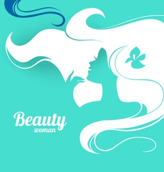 Beautiful fashion woman silhouette Paper design vector image
