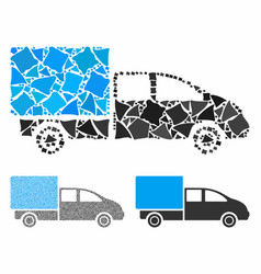 cargo composition icon trembly parts vector image