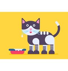 Cat Milk Flat vector image