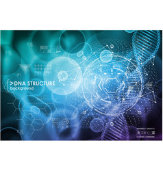 Cell and dna background with interface elements vector