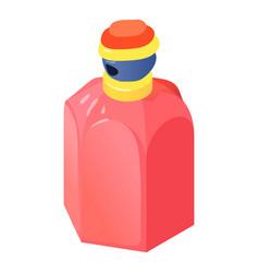 Cherry bottle perfume icon isometric 3d style vector
