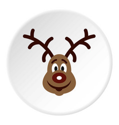 Christmas deer icon circle vector