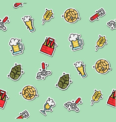 Colored brewing pattern vector