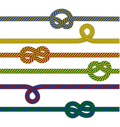 colorful ropes collection vector image