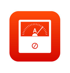 counter icon digital red vector image