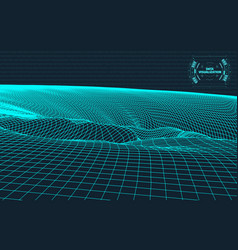 Data visualization background futuristic design vector