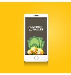 Digital mobile e wallet concept vector