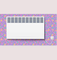 Domestic electric heater home con plugged vector