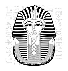 Egypt tutankhamun pharaoh black vector