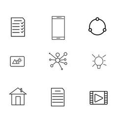 essential icon set vector image