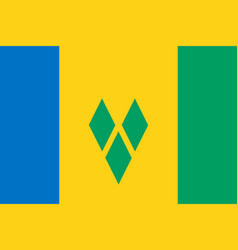 Flag of saint vincent and the grenadines official vector