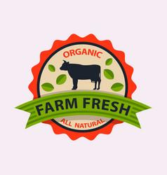 Flat style bio organic eco healthy food label vector