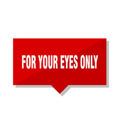 For your eyes only red tag vector