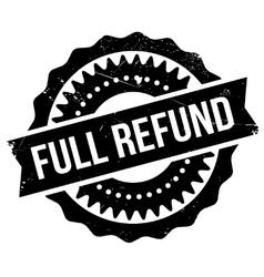 Full refund stamp vector image