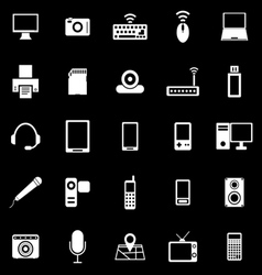 Gadget icons on black background vector