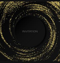 gold glitters effect golden comet vector image