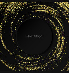 gold glitters effect golden comet with vector image
