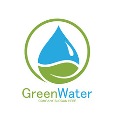 Green water logo vector