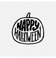 Happy Halloween vintage banner with typography vector