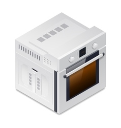 Inline oven detailed isometric icon vector image