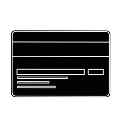 isolated credit card vector image