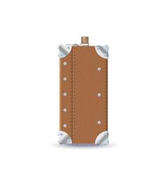 Leather retro suitcase vector