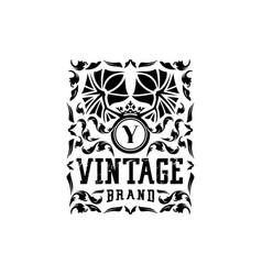 Letter y vintage logo design vector