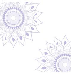 mandala purple background vector image