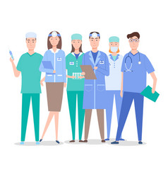 otolaryngologists surgeons and assistants vector image