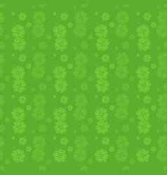 pattern from four leaf clover - st patricks day vector image