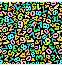 pattern with numbers vector image vector image