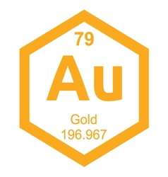 Periodic table gold vector image