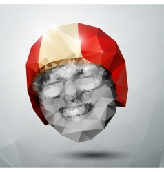 Polygonal head vector image