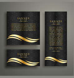 premium luxury golden banner template design vector image