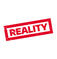 Reality rubber stamp vector
