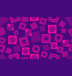 seamless circle geometric modern pattern vector image