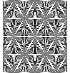 Seamless hexagonal triangle line pattern vector