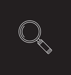 search icon magnifying glass solid vector image