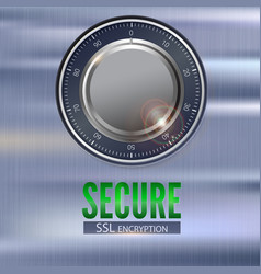 Secure ssl connection 3d with digital vector