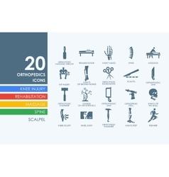 Set of orthopedics icons vector image