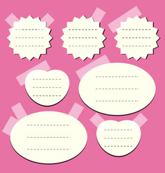 set of paper notes vector image