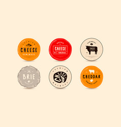 set template labels for cheese vector image