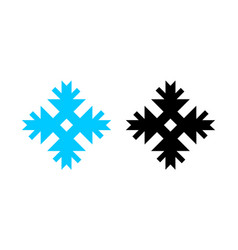 snowflake icon for new year and christmas in vector image