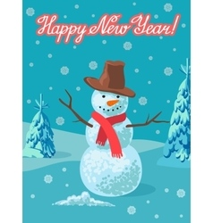 Snowman outdoor Greeting vector